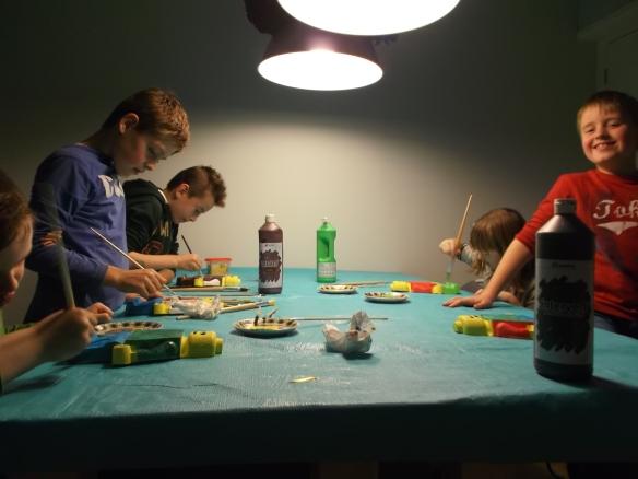 Legomannen versieren/decorating Lego men